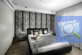 חדר שינה עם ארון הזזה של הרדור